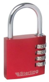 Sterling 4 Dial Anodised Combo Padlock - 40mm