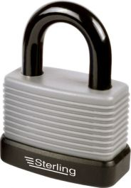 Sterling Aluminium Weatherproof Padlock with Thermoplastic Cover - 57mm
