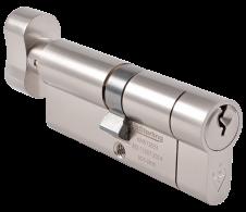 Sterling British Standard 1* Euro Cylinder Satin Nickel Thumbturn - 40 x 40mm
