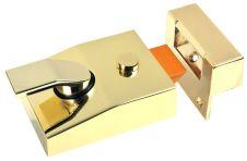 Sterling Double Locking Night Latch - Brass 60mm