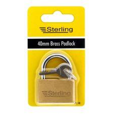 Sterling Economy Brass Padlock - 40mm