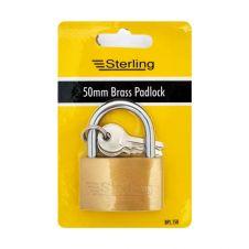 Sterling Economy Brass Padlock - 50mm