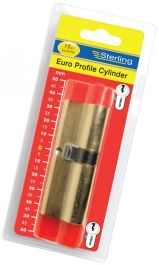 Sterling Europrofile Double Cylinder Nickel - 45 x 50