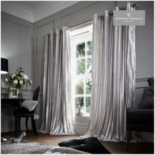 STRIPE SHINY CURTAINS SILVER