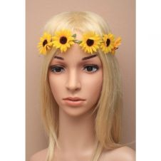 Sunflower Stretch Elastic garland bandeaux / browband