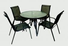 Supa 5 Piece Textiline Dining Set