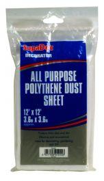 SupaDec All Purpose Polythene Dust Sheets - 12' x 12'