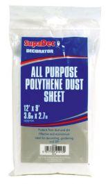 SupaDec All Purpose Polythene Dust Sheets - 12' x 9'