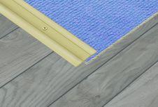 SupaDec Aluminium Coverstrip Gold Effect - 34x900