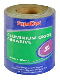 SupaDec Aluminium Oxide Roll - Fine Grade, 120 Grit, 12m