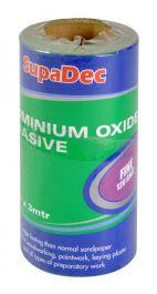 SupaDec Aluminium Oxide Roll - Fine Grade, 120 Grit, 3m