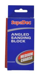 SupaDec Angled Sanding Block - Medium/coarse