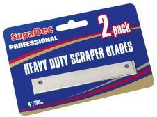 SupaDec Angled Scraper Blades - Pack of 2