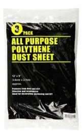 SupaDec Clear Dust Sheet - 12' x 9' Pack 3