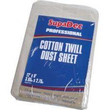 SupaDec Cotton Twill Dust Sheet - 12' x 9' (3.6m x 2.7m) approx