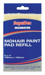 SupaDec Decorator Mohair Paint Pad Refill - 6