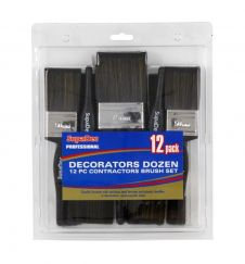 SupaDec Decorators Dozen 12 Pc Contractors Brush Set - 12 Pack