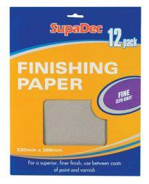 SupaDec Finishing Paper - 12 sheets, 320 Grit