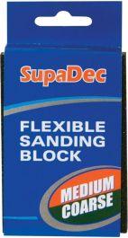 SupaDec Flexible Sanding Block - Medium/Coarse