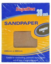 SupaDec General Purpose Sandpaper - Pack 30 Coarse S2