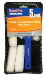 SupaDec Long Pile Woven Fabric Roller Set - 4