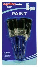 SupaDec Paint Brush Set - 12mm, 25mm, 38mm, 50mm, 63mm