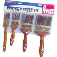 SupaDec Polyester Brush Set - 4 Piece