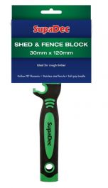 SupaDec Shed And Fence Block Brush - 30mm x 120mm