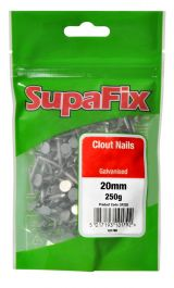 SupaFix Clout Nails - 20mm x 2.65mm x 250g - Galvanised