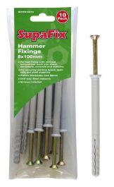 SupaFix Hammer Fixings - M8X100
