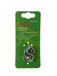 SupaFix S Hooks Pack 3 - 38mm