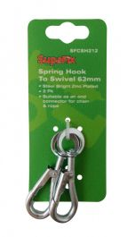 SupaFix Spring Hook to Swivel Pack 2 - 63mm
