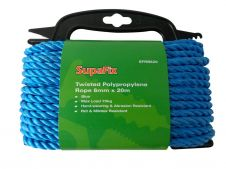 SupaFix Twisted Polypropylene Rope - 6mm x 20m Blue