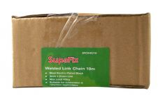 SupaFix Welded Link Chain 10m - Steel Electro Plated Black 3x21mm