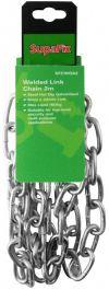 SupaFix Welded Link Chain 2m - Steel Hot Dip Galvanised 6x33mm