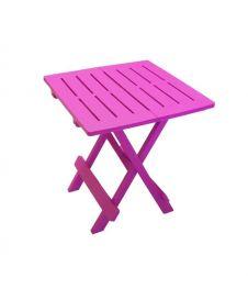 SupaGarden Plastic Folding Camping Table - Pink