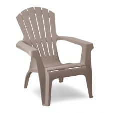 SupaGarden Plastic Stackable Armchair - Taupe