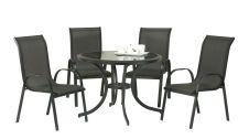SupaGarden Stacking Chair Set - 5 Piece