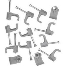 SupaLec Cable Clips Flat Pack of 100 - 1.5mm - Grey