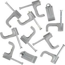SupaLec Cable Clips Flat Pack of 100 - 6mm - Grey