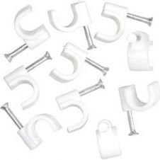 SupaLec Cable Clips Round Pack of 100 - 10mm - White