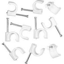 SupaLec Cable Clips Round Pack of 100 - 9mm - White