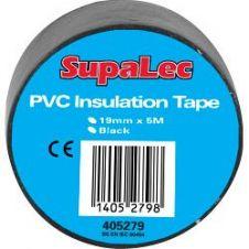 SupaLec PVC Insulation Tapes - Black 5 Metre Pack 10