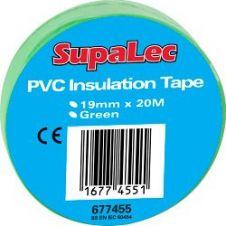 SupaLec PVC Insulation Tapes - Green 20 Metre Pack 10