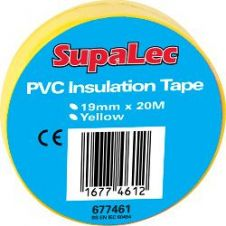 SupaLec PVC Insulation Tapes - Yellow 20 Metre Pack 10