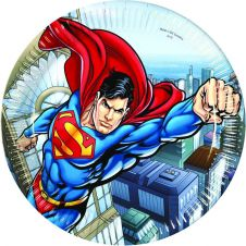 Superman Plates 23CM (Pack of 8)