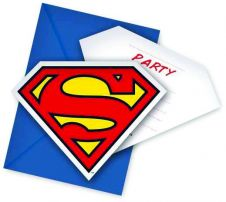 Superman Invites & Envelope (Pack of 6)