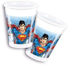 Superman Plastic Cups 200ml (Pack of 8)