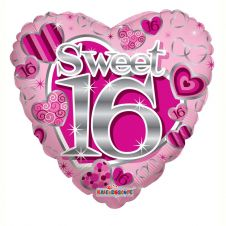 Sweet 16th Pink Birthday Balloon (18 Inches)
