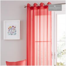 SWISS V-PILE PANEL CURTAIN 55X90 DEEP RED